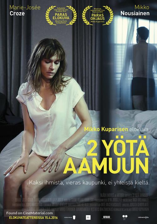 2 yötä aamuun - Finnish Movie Poster