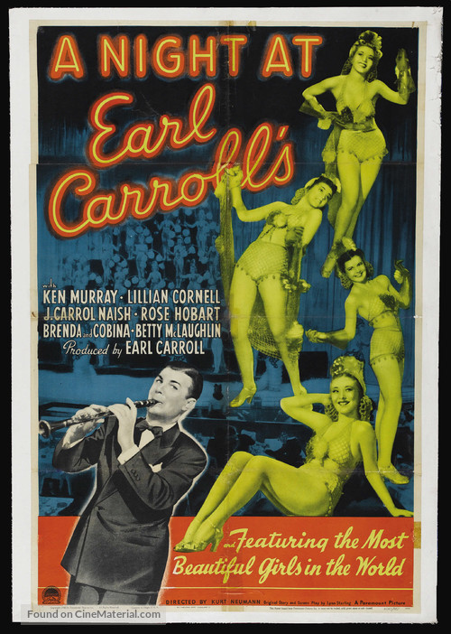 A Night at Earl Carroll's - Theatrical movie poster