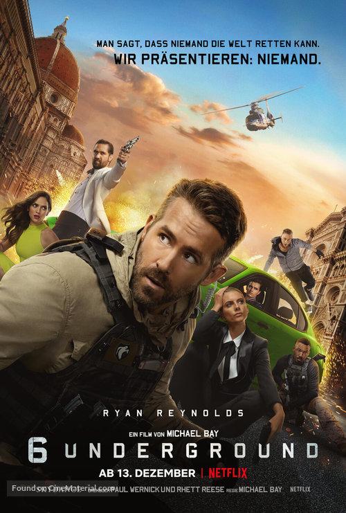 6 Underground - German Movie Poster