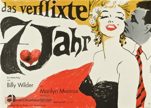 The Seven Year Itch - German Movie Poster