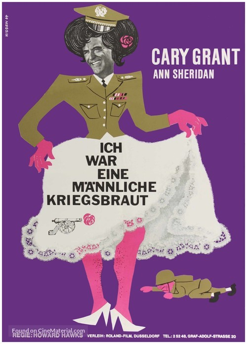 I Was a Male War Bride - German Movie Poster