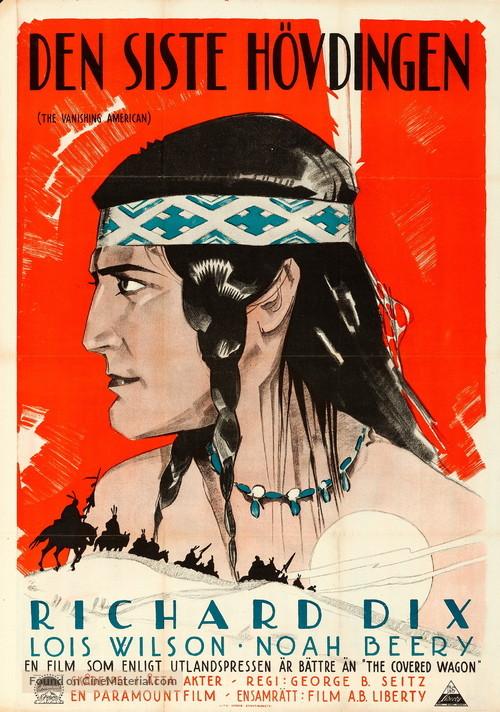 The Vanishing American - Swedish Movie Poster