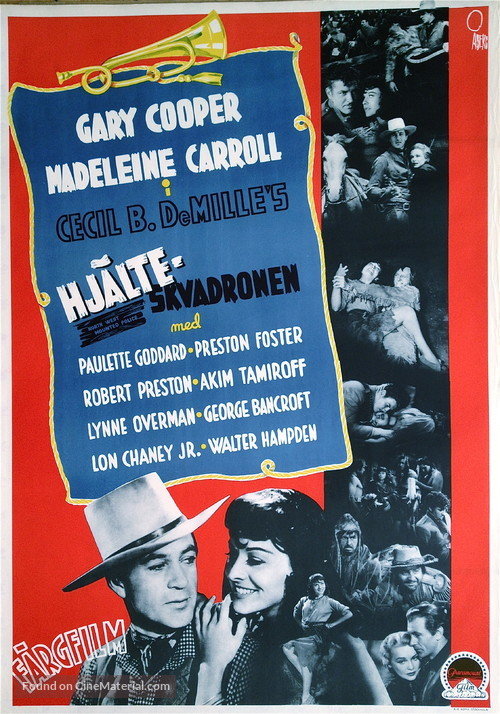 North West Mounted Police Swedish movie poster