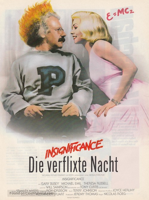Insignificance - German Movie Poster