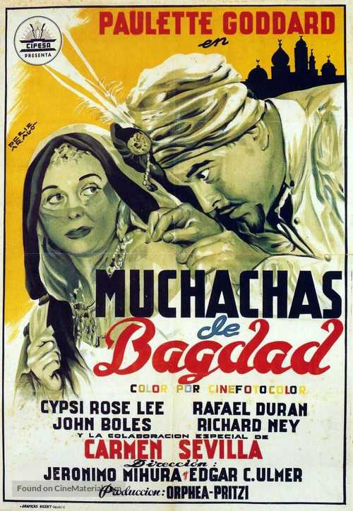 Babes in Bagdad - Spanish Movie Poster