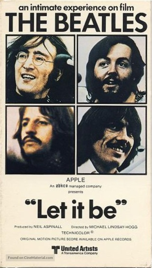 Let It Be - VHS movie cover