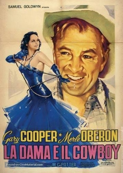The Cowboy and the Lady - Italian Movie Poster