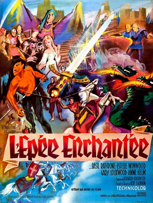 The Magic Sword - French Movie Poster