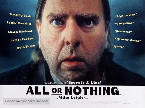 All or Nothing - British Movie Poster