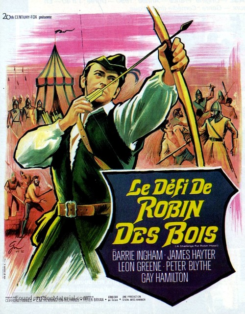 A Challenge for Robin Hood - French Movie Poster