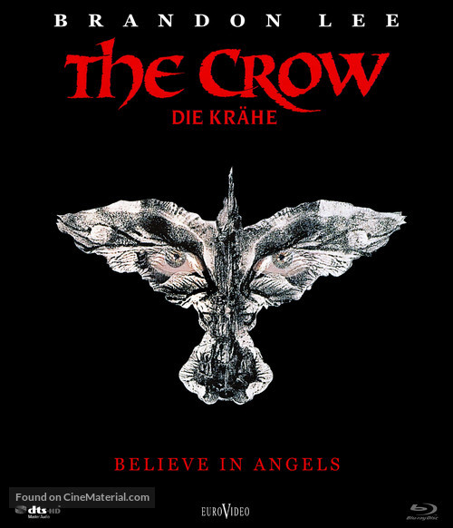The Crow - German Blu-Ray movie cover