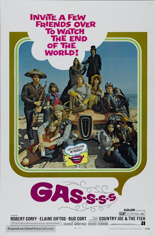 Gas! -Or- It Became Necessary to Destroy the World in Order to Save It. - Movie Poster