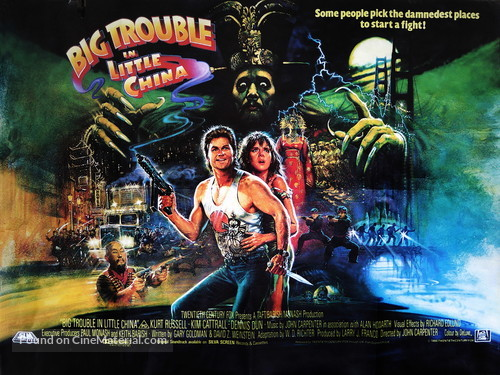 Big Trouble In Little China - British Movie Poster