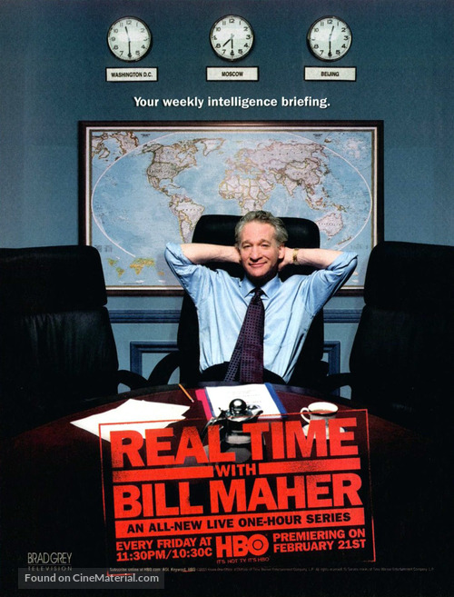 """""""Real Time with Bill Maher"""" - Movie Poster"""