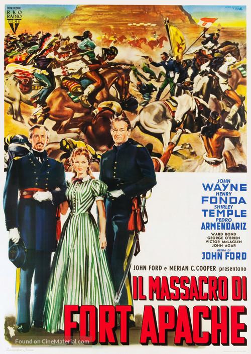 Fort Apache - Italian Movie Poster