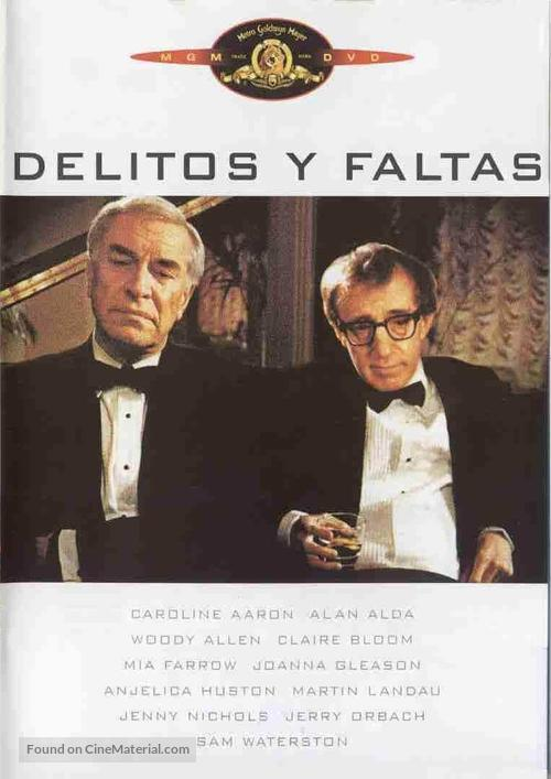 Crimes and Misdemeanors - Spanish DVD movie cover