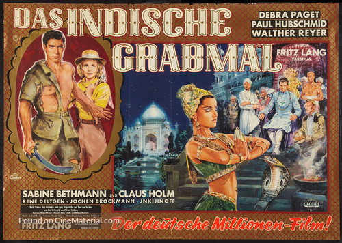 Das iIndische Grabmal - German Movie Poster