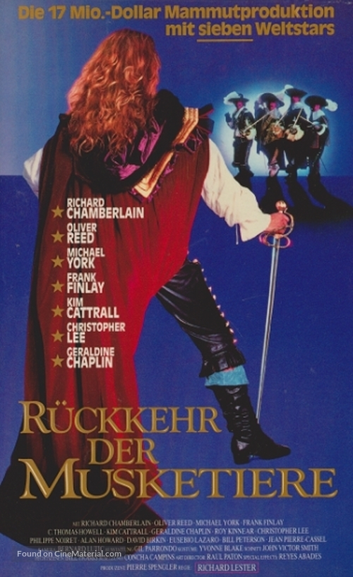 The Return of the Musketeers - German VHS movie cover