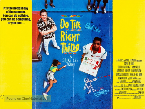 Do The Right Thing - British Movie Poster