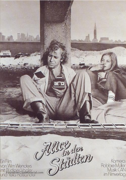 Alice in den Städten - German Movie Poster