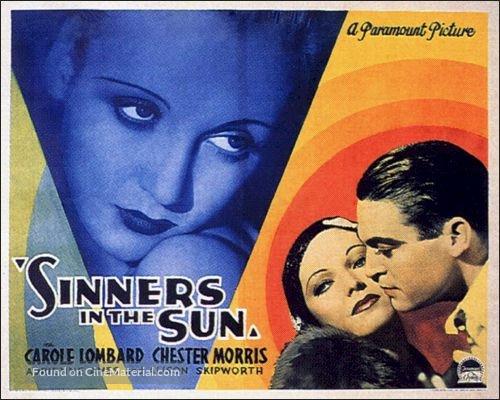 Sinners in the Sun - British Movie Poster