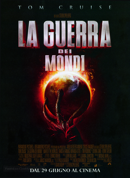 War of the Worlds - Italian Movie Poster