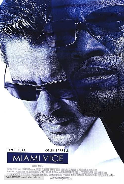 Miami Vice - Canadian Movie Poster