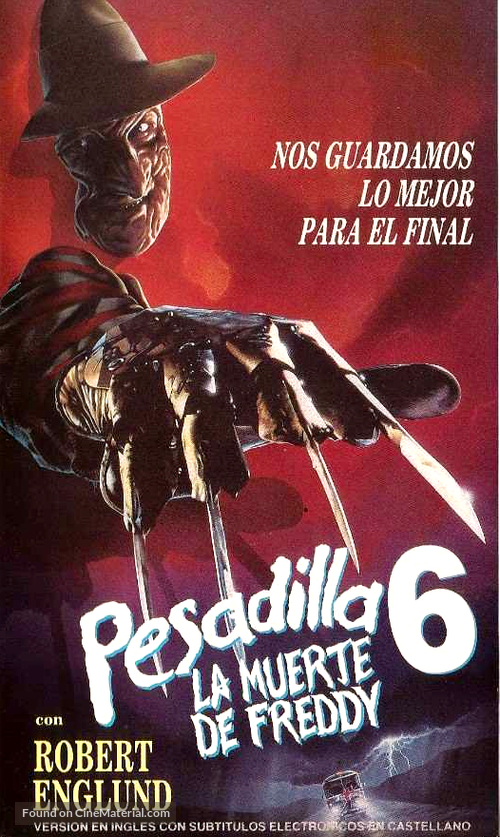 Freddy's Dead: The Final Nightmare - Argentinian VHS movie cover