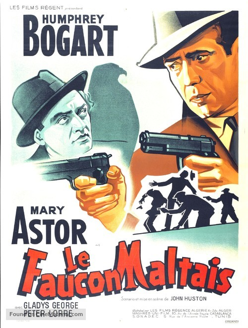 The Maltese Falcon - French Movie Poster