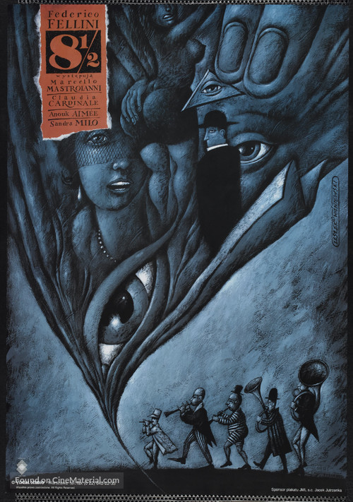 8½ - Polish Re-release movie poster