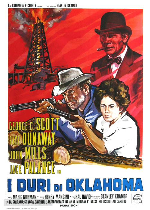 Oklahoma Crude - Italian Movie Poster