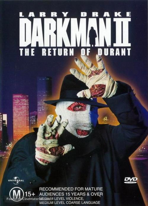 Darkman II: The Return of Durant - Australian DVD movie cover