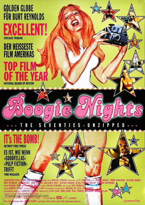 Boogie Nights - German Movie Poster