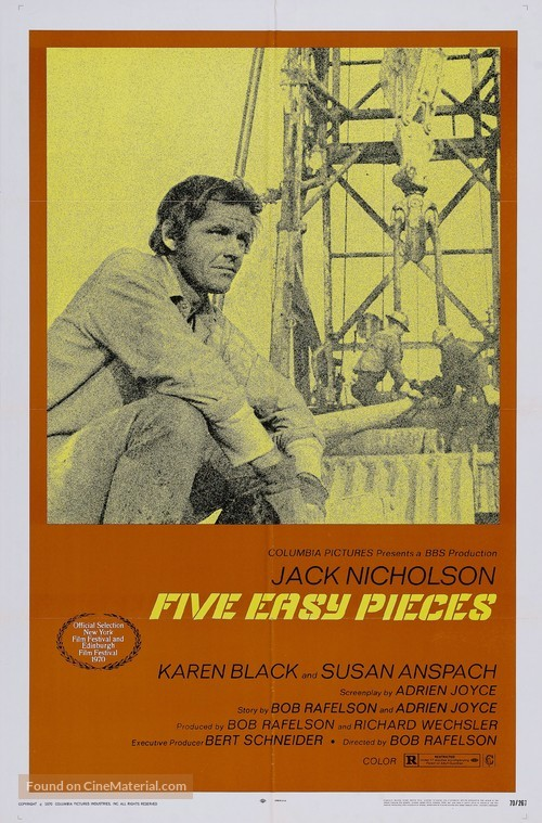 Five Easy Pieces - Movie Poster