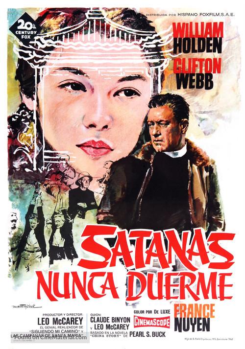 Satan Never Sleeps - Spanish Movie Poster