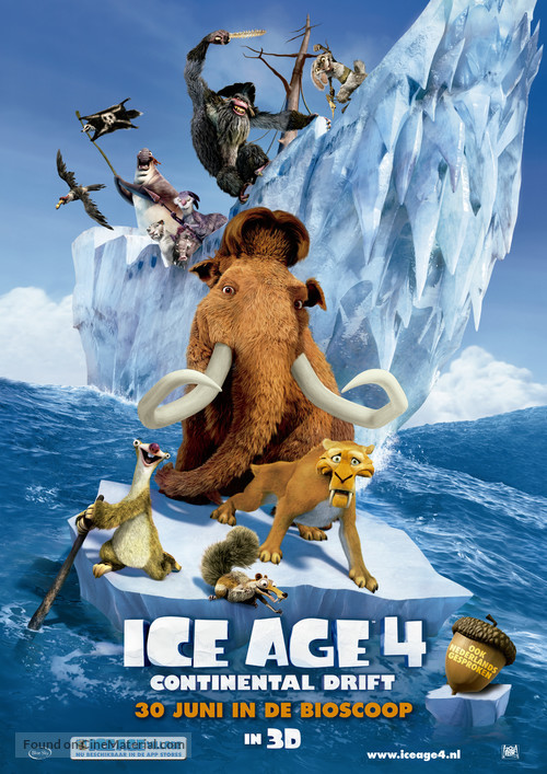 Ice Age: Continental Drift - Dutch Theatrical movie poster