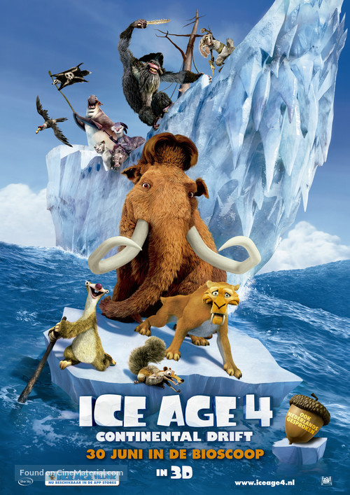 Ice Age: Continental Drift - Dutch Theatrical poster
