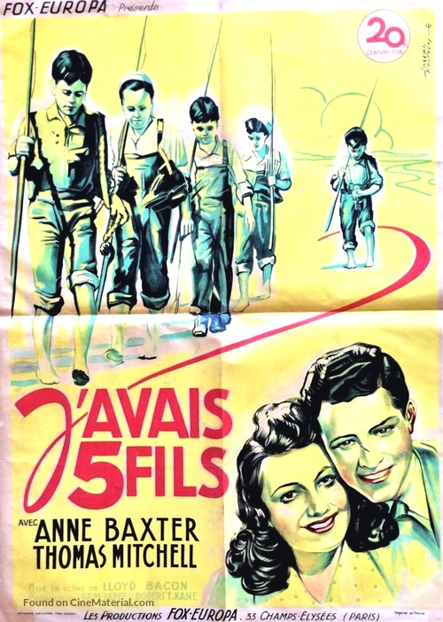 The Sullivans - French Movie Poster