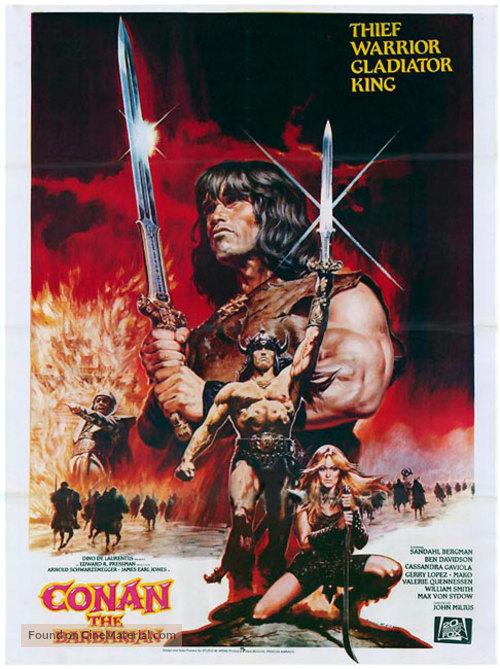 Conan The Barbarian - British Movie Poster