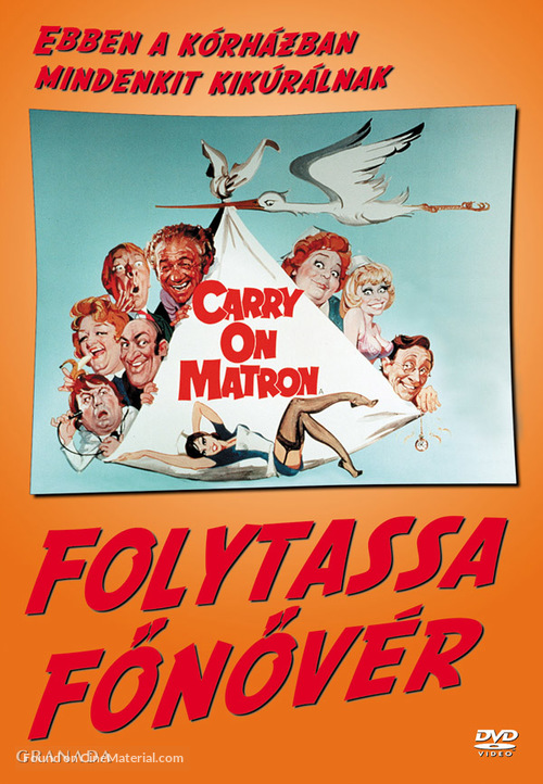 Carry on Matron - Hungarian DVD movie cover