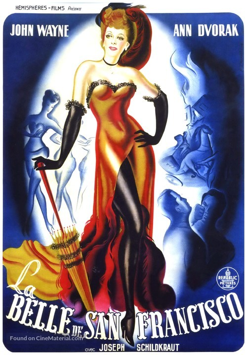 Flame of Barbary Coast - French Movie Poster