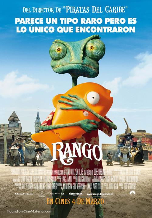 Rango - Spanish Movie Poster