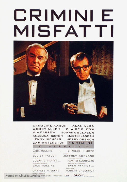 Crimes and Misdemeanors - Italian Movie Poster