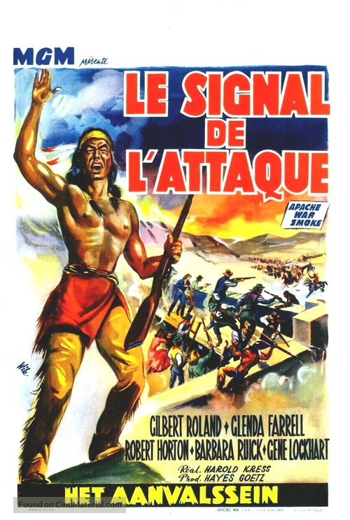 Apache War Smoke - Belgian Movie Poster