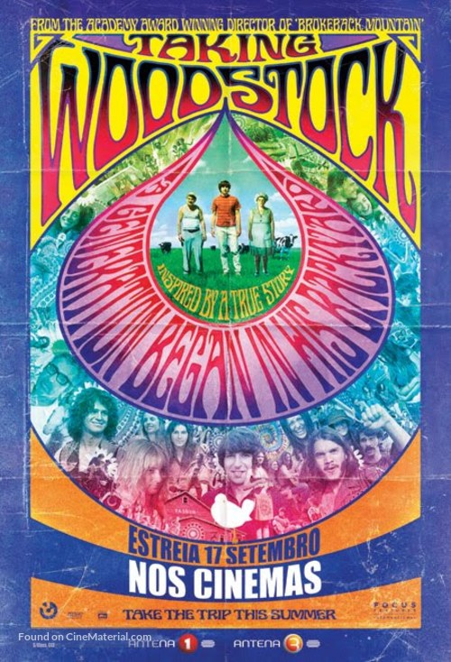 Taking Woodstock - Portuguese Movie Poster