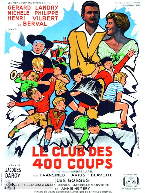 Le club des 400 coups - French Movie Poster