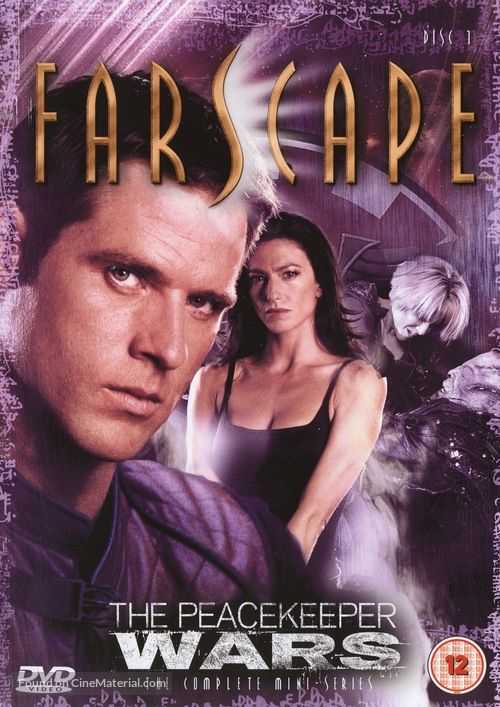"""""""Farscape: The Peacekeeper Wars"""" - British DVD movie cover"""