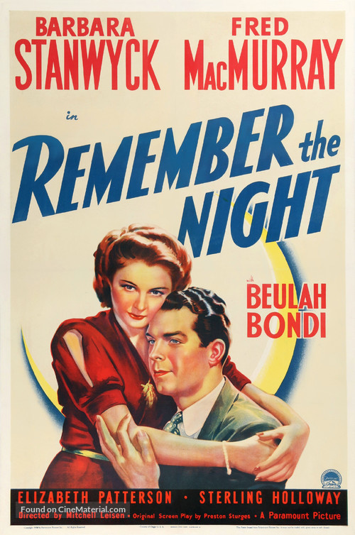 Remember the Night - Movie Poster