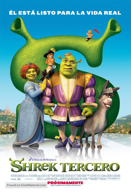 Shrek the Third - Argentinian Movie Poster