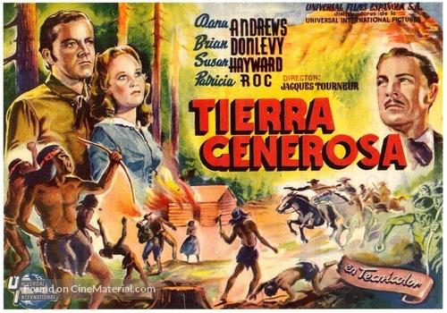 Canyon Passage - Spanish Movie Poster